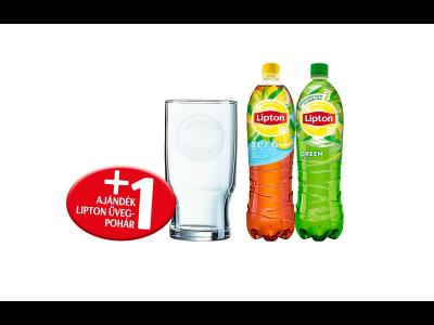 2db Lipton ice tea + üvegpohár csomag