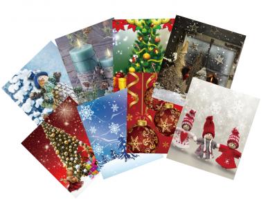 Karácsonyi papírtasak kicsi 23x18x10 cm (8féle mintával)