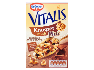 Dr. Oetker Vitalis Knusper Plus Dupla Csok. rop. müzli 450g