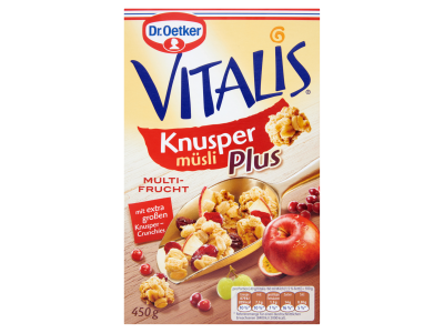Dr. Oetker Vitalis Knusper Plus Gyüm. rop. müzli 450g