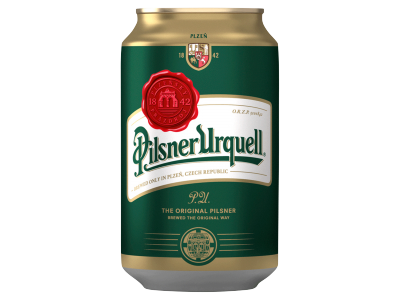 Pilsner Urquell minőségi világos sör doboz 4.4% 0.33l