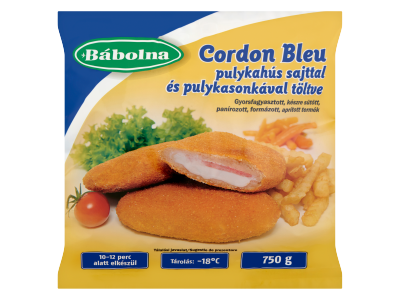 Bábolna gyorsfagyasztott cordon bleu 750g