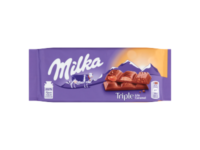 Milka Triple á la Caramel tejcsokoládé 90g