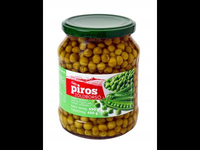 CBA PIROS zöldborsó 690g/450g