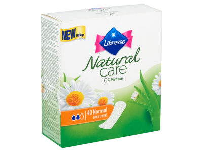 Libresse tisztasági betét natural care normal 40db