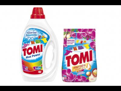 2db Tomi mosópor 1.17kg és/vagy mosógél 1l