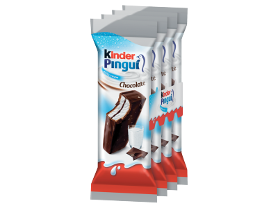 Kinder Pingui choco tejes töltésű sütemény 4db 120g