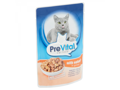 PreVital felnőtt macskák számára lazaccal 100g
