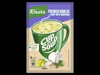 Knorr cup a soup fokhagymakrémleves zsemlekockával 18g