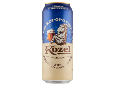 Kozel alkoholmentes félbarna sör dobozos 0,5l