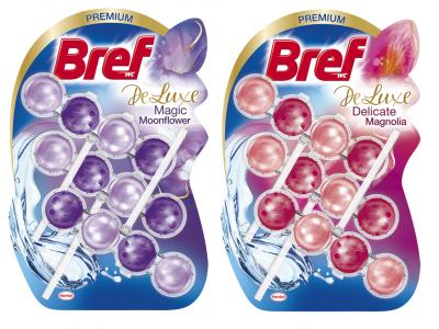 2db Bref Color aktív és/vagy DeLuxe toalettfrissítő 3x50g