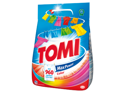 Tomi color mosópor színes ruhákhoz 40mosás 2,8kg