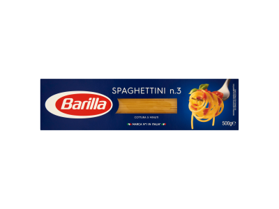 Barilla Spaghettini szálas durum száraztészta 500g