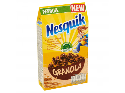 Nestlé Nesquik granola ropogós gabonafalatok kakaós ízű 300g