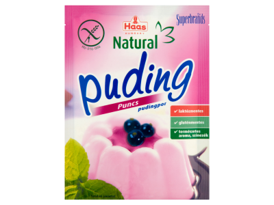 Haas natural pudingpor gluténmentes puncs 40g