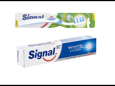 Signal fogkrém 75ml, Signal fogkefe - 2db