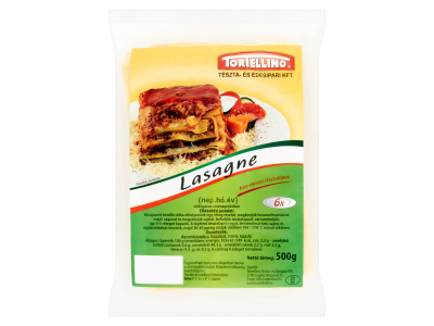 Tortellino lasagne friss olaszos tésztalapok 500g