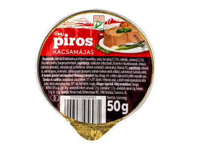 CBA PIROS kacsamájas krém 50g