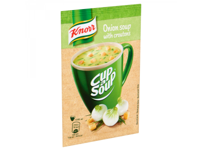 Knorr cup a soup hagymakrémleves zsemlekockával 17g