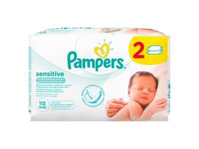 Pampers Sensitive baba törlőkendő 2 x 56 db