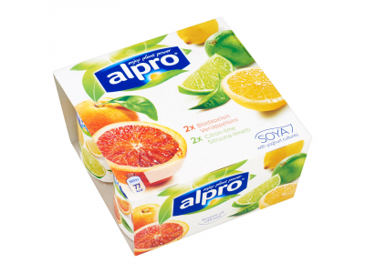 Alpro szójakészítmény citromos és vérnarancsos sav. 4x125g