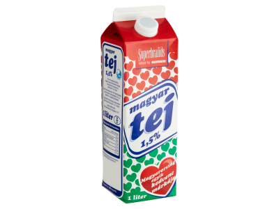 Magyar tej 1,5% dobozos 1l