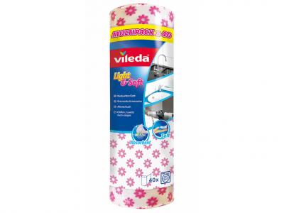 Vileda light&soft eldobható törlőkendő roll 40 db