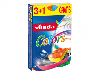 Vileda pur active colour szivacs 3+1