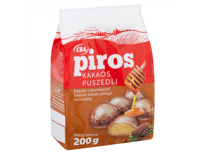 CBA PIROS mézes jellegű puszedli kakaós 200g
