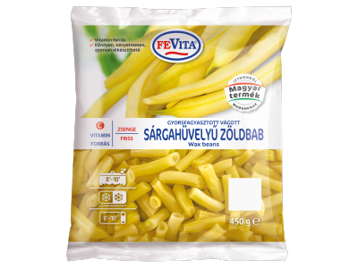 FeVita gyorsf.zsenge friss sárgahüvelyű vágott zöldbab 450g