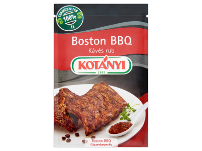 Kotányi boston bbq kávés rub barbecue fűszerkeverék 22g