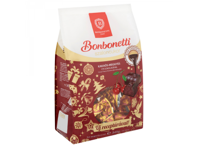 Bonbonetti szalonc. csok.krémes-meggyes étcsok. mártva 345g
