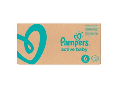 Pampers pelenka Active Baby Dry monthly box S6 124db