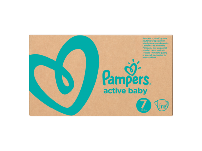 Pampers pelenka Active Baby Dry monthly box S7 112db