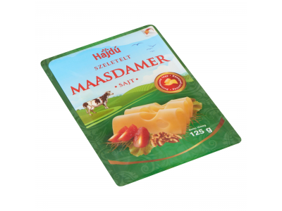 Hajdú Maasdammer szeletelt sajt 125g