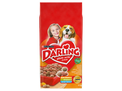 Darling száraz kutyaeledel szárnyas+zöldség 15kg