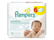 Pampers sensitive babatörlőkendő 6x56db