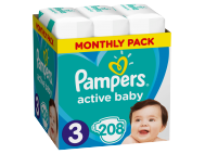 Pampers pelenka Active Baby Dry monthly box S3 208db