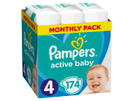 Pampers pelenka Active Baby Dry monthly box S4 174db