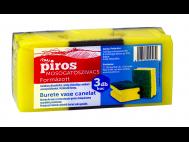 CBA PIROS formázott mosogatószivacs 3db