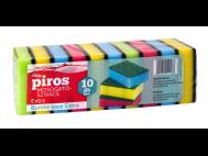 CBA PIROS mosogatószivacs 10db-os