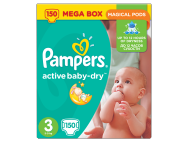 Pampers Active Baby-Dry pelenka 3-as (Midi) 150db