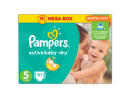 Pampers Active Baby-Dry pelenka 5-ös (Junior) 111db