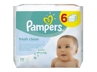 Pampers fresh clean babatörlőkendő 6x64db