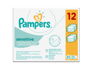 Pampers sensitive babatörlőkendő 12x56db
