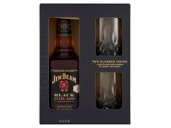 Jim Beam Black Bourbon whiskey 43% 0.7l + 2 db pohár