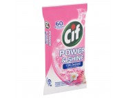 Cif power & shine pink lily törlőkendő 60db