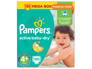 Pampers Active Baby-Dry pelenka 4+-os (Maxi+) 120db