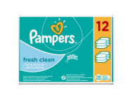 Pampers törlőkendő fresh clean 12x64db