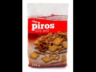 CBA PIROS sós mix (kréker, pálcika, perec) zacskós 250g